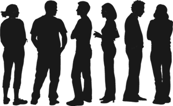 silhouette-people-talking