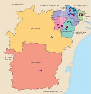 SWSLHD map